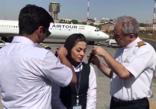 مراسم اولین پرواز مستقل و اعطای امتیاز رتبه 4  به دومین بانوی کاپیتان ایران + فیلم