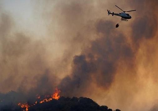 بسیج امکانات و افراد برای خاموش کردن شعلههای آتش
