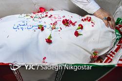 وداع با پیکر شهید مدافع وطن محسن نقیبی