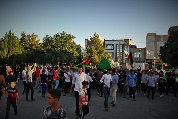تصاویر: استقبال مهاجرین از تیم ملی فوتسال افغانستان در مشهد