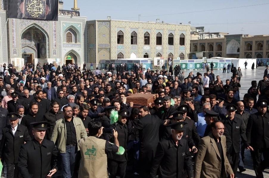 اخرین وداع با  شهید مدافع حرم