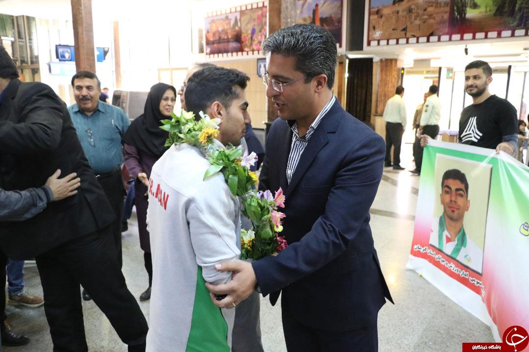 مراسم استقبال از دارنده مدال برنز آسیا در کرمان + تصاویر