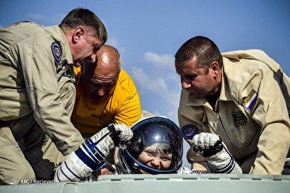 بازگشت سه فضانورد به زمین