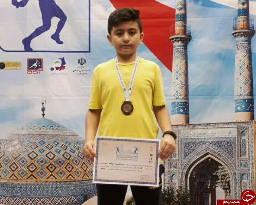 اسکواش باز کرمانی بر سکوی سوم رقابت های بین المللی یزد