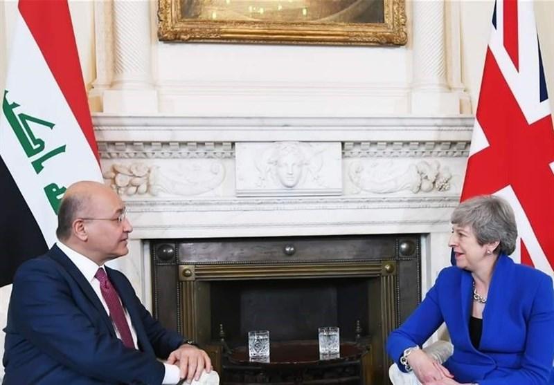 دیدار و گفتوگوی رئیسجمهور عراق با مقامات انگلستان