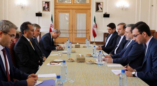 دیدار سیدعباس عراقچی با قائم مقام وزارت امور خارجه عراق