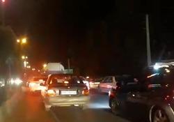 ترافیک سنگین جاده در محور ملارد - اندیشه + فیلم