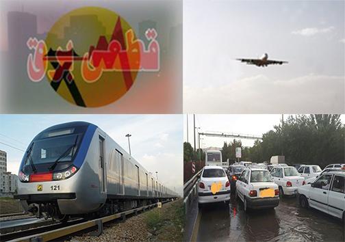 کاهش دید افقی در فرودگاه شهید هاشمی نژاد و لغو پرواز/ قطع برق در برخی از مناطق/سقوط درخت بر روی قطار شهری