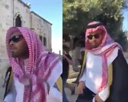 اخراج تحقیرآمیز وبلاگ نویس سعودی از مسجدالاقصی +فیلم