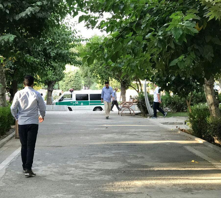 جمع آوری معتادان متجاهر در پارک لاله
