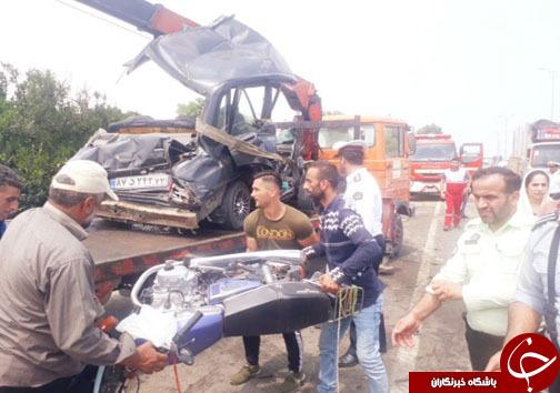 تصادف منجر به فوت ۴ تن در کمربندی تنکابن