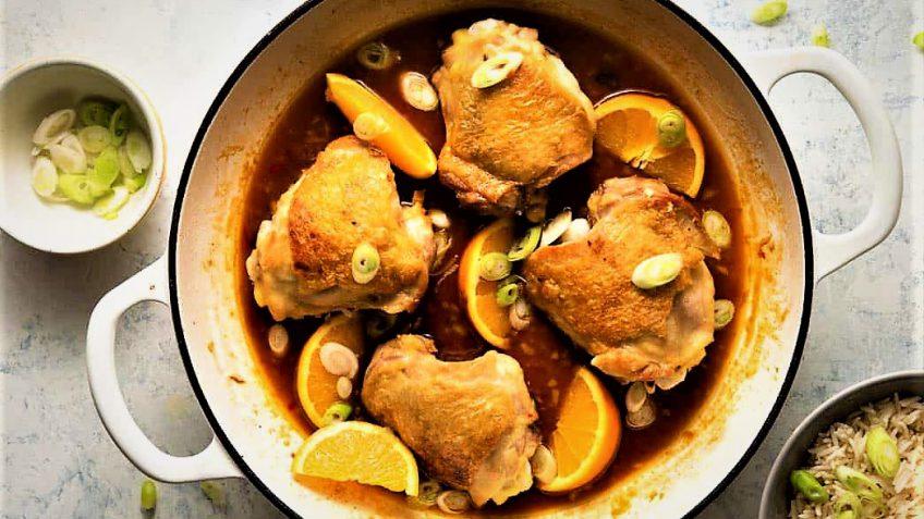 خورش پرتقال با مرغ