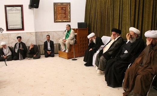 مجلس روضه امام جواد(ع)در بیوت مراجع تقلید برپا شد+عکس