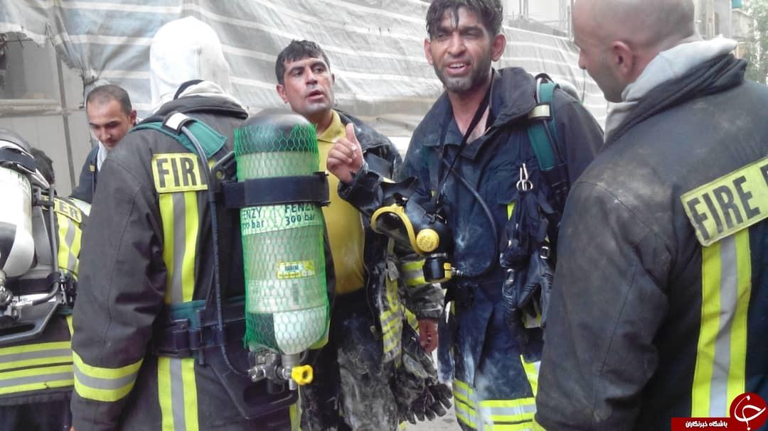 هتل آسمان آتش گرفت/ دود به طبقات بالا سرایت کرد/آتش مهار شد + تصاویر