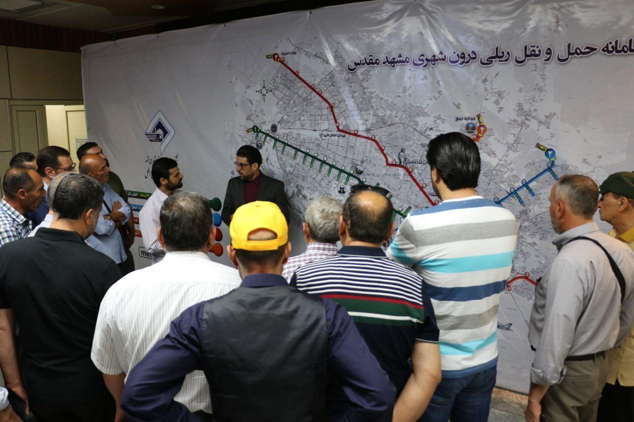 بازدید اعضای اتحادیه شهرداران لبنان از قطارشهری مشهد