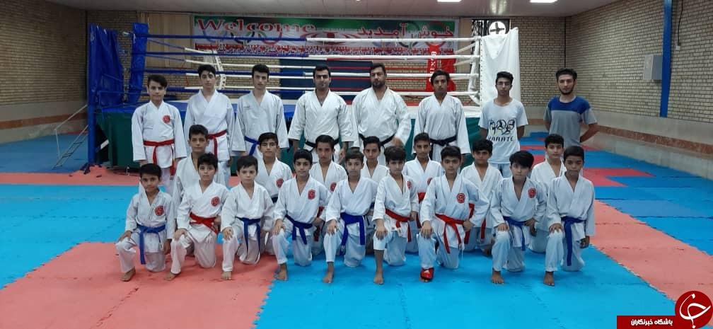 اعزام تیم کاراته شهرستان گناوه به مسابقات یزد