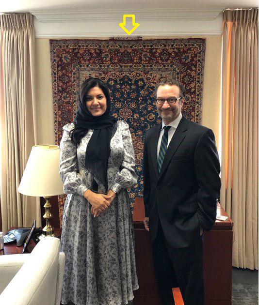 خودنمایی فرش ایرانی در جلسه مقام سعودی و آمریکایی+ تصاویر