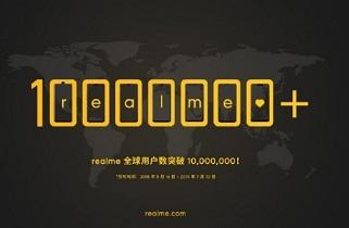 شرکت Realme به فروش ۱۰ میلیون دستگاهی دست یافت
