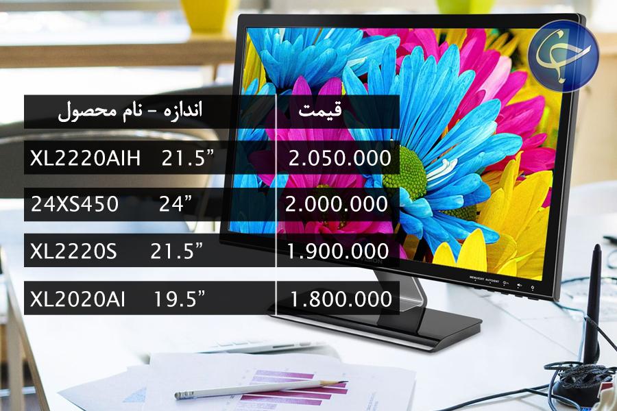 آخرین قیمت انواع نمایشگر در بازار (تاریخ  16 مرداد) +جدول