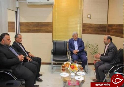دیدار رئیس شوراهای حل اختلاف خوزستان با فرماندار خرمشهر