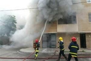 ۸ مصدوم در حادثه آتش سوزی واحد مسکونی شیراز