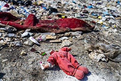 انباشت زباله در منطقه میشداغ