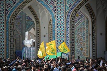 تشییع پیکر شهید مدافع حرم سید ناظرحسین موسوی