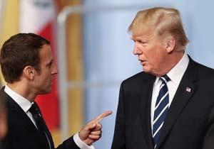 اختلافنظر بر سر ایران رابطه ترامپ و مکرون را شکراب کرد