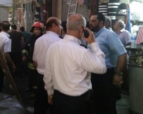آتش سوزی در بازار تاریخی تبریز/ یک مغازه طعمه حریق شد