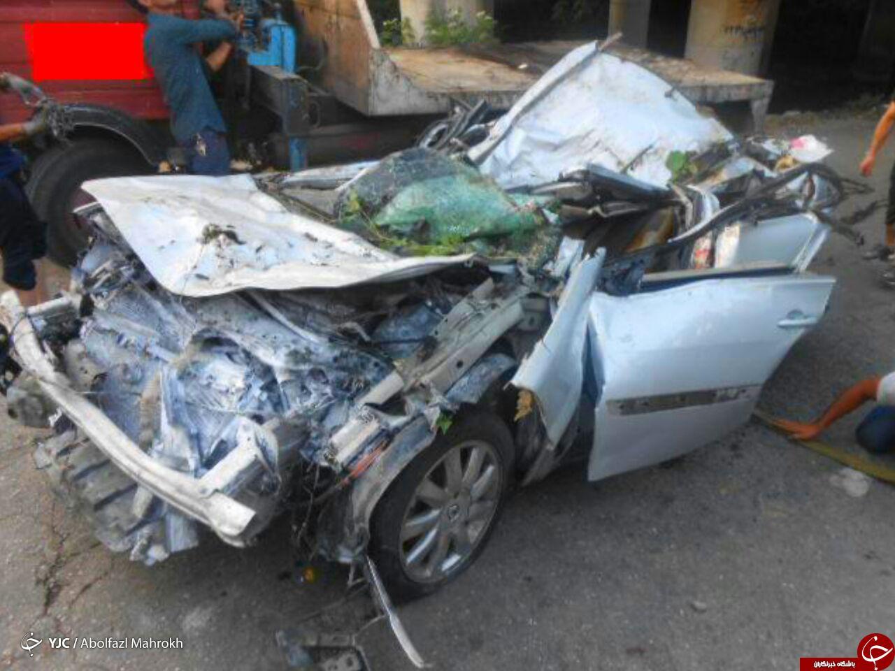 تصادف مرگبار خودروی مگان در رودسر + تصویر