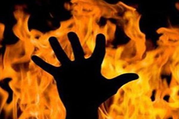 داماد در خانه مادر زن، خودش را به آتش کشید!