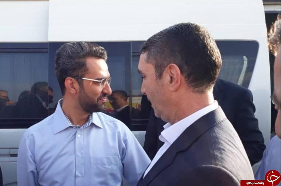 وزیر ارتباطات وارد ساوه شد