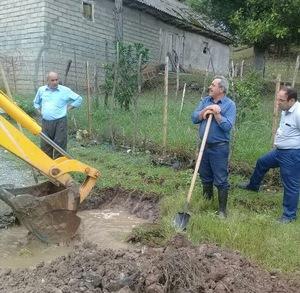 مرمت خط انتقال آب آشامیدنی ۱۷ روستای شهرستان ماسال