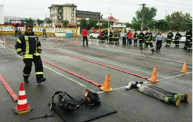 اجرای تست عملیاتی - ورزشی ویژه آتش نشانان