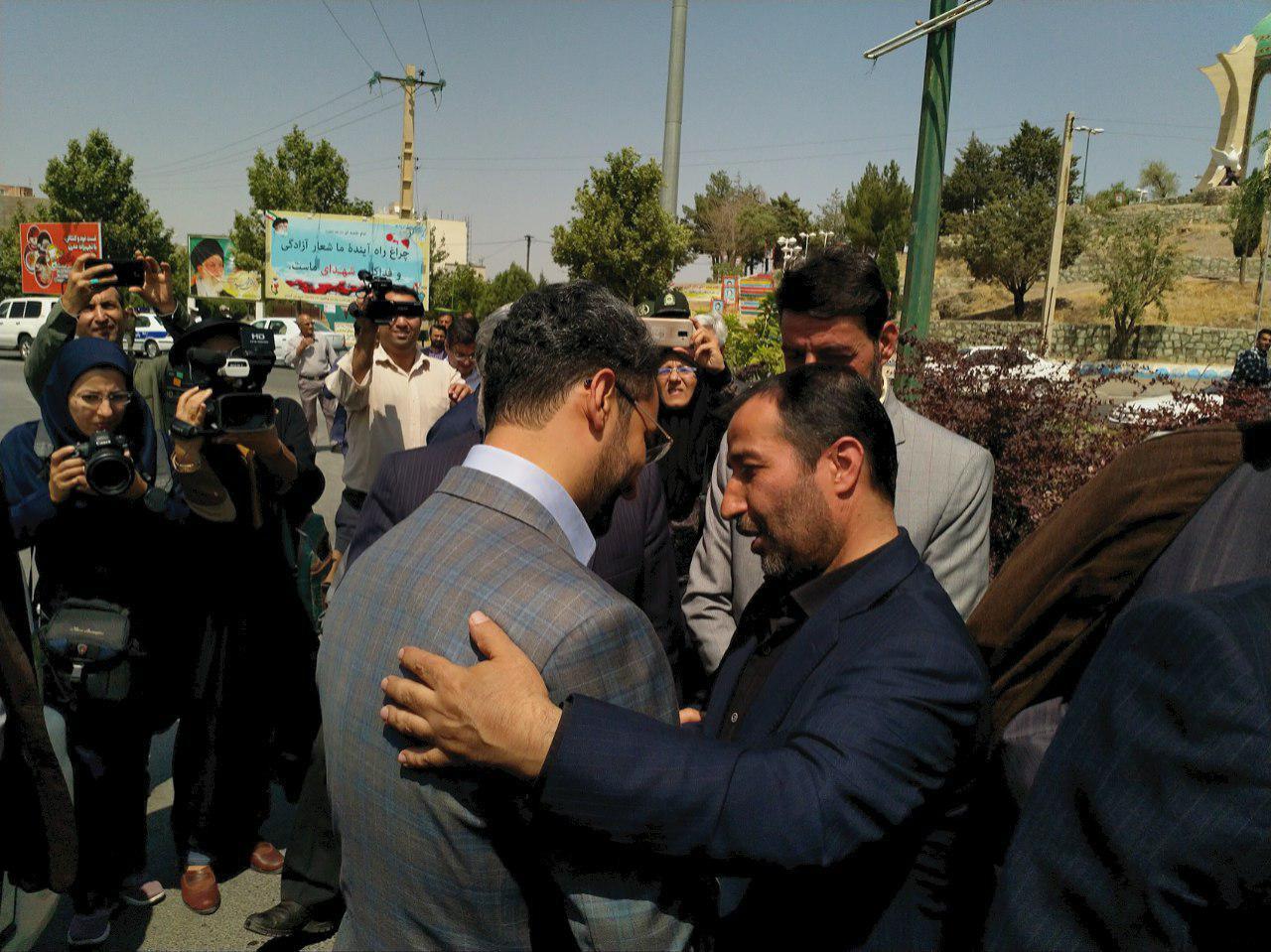 ورود وزیر ارتباطات و فن آوری اطلاعات به تفرش