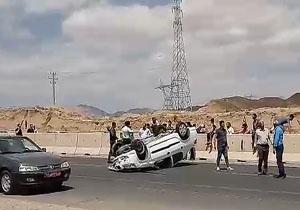 واژگونی خودروی رانا در سمنان + فیلم