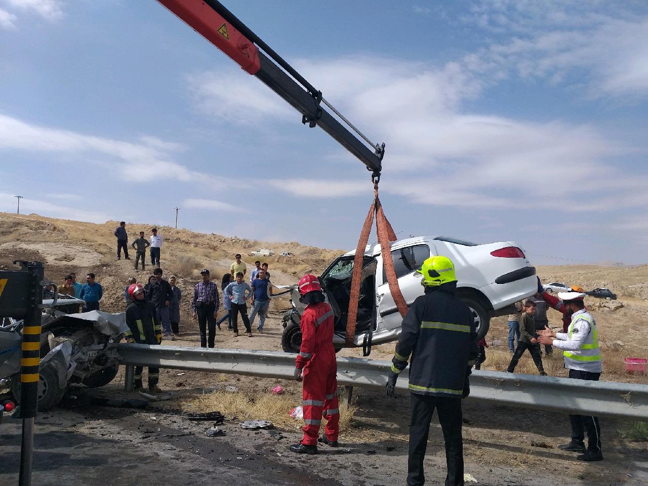 یک کشته در حادثه خواف تایباد/ ۲ حادثه رانندگی در یک روز و۱۱ مصدوم