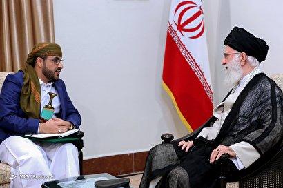 دیدار سخنگوی جنبش انصارالله یمن با رهبر انقلاب