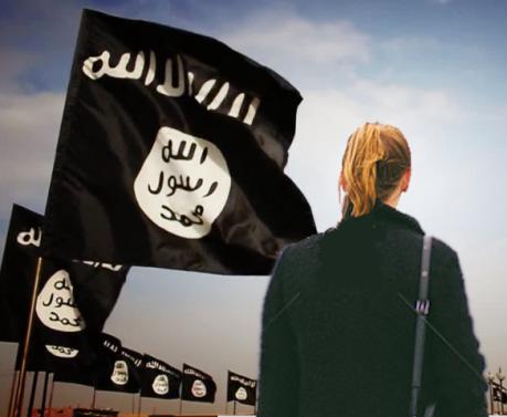 زنی تنها میان داعشیها و اطلاعاتیهای غربی + عکس