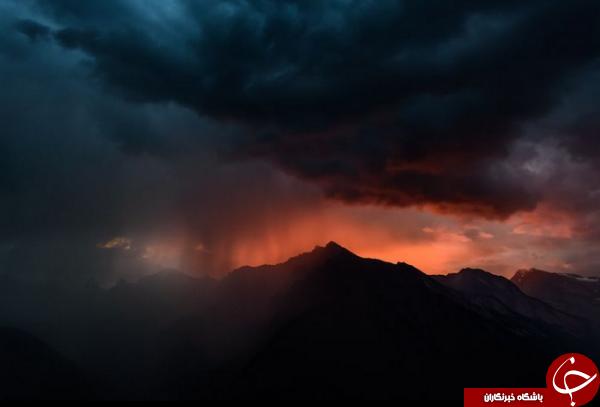 تصویری از یک طوفان هولناک در کوههای آلپ در عکس منتخب نشنال جئوگرافیک