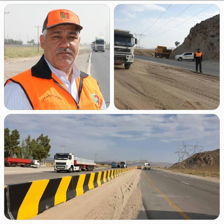 یک نقطه حادثه خیز جادهای در بزرگراه سیرجان- بندرعباس مرتفع شد