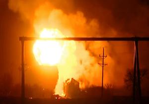 انفجار در مرکز پاکسازی مخزن شیمیایی در ایندیانا