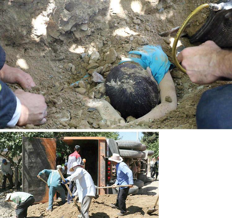 مرگ دلخراش کودک زیر خاکهای کامیون