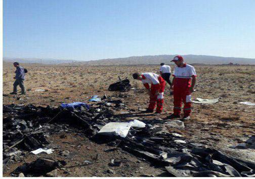 سقوط هواپیمای آموزشی در گرمسار/ ۲ نفر جان باختند +عکس