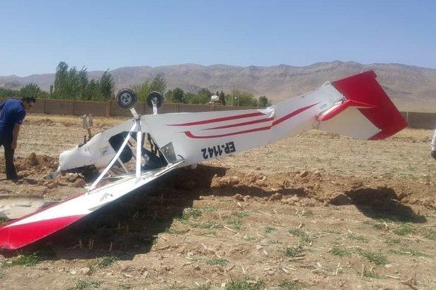 اولین تصاویر از سقوط مرگبار هواپیمای فوق سبک در حوالی فرودگاه ایوانکی