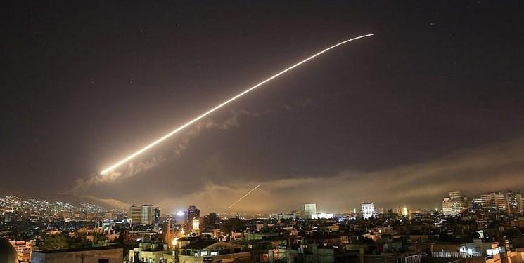 پدافند هوایی سوریه موشک مهاجم را منهدم کرد