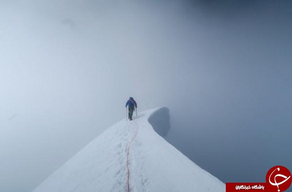 کوهنوردی بر فراز قله نوادا در عکس روز نشنال جئوگرافیک