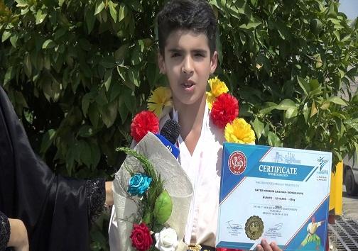 مدال طلای مسابقات آسیایی برگردن نوجوان کاراته کای چرامی