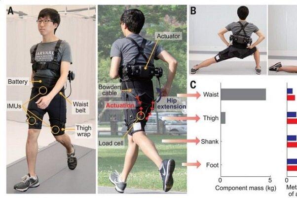 شلوارک رباتیک برای راحتتر دویدن در مسافتهای طولانی