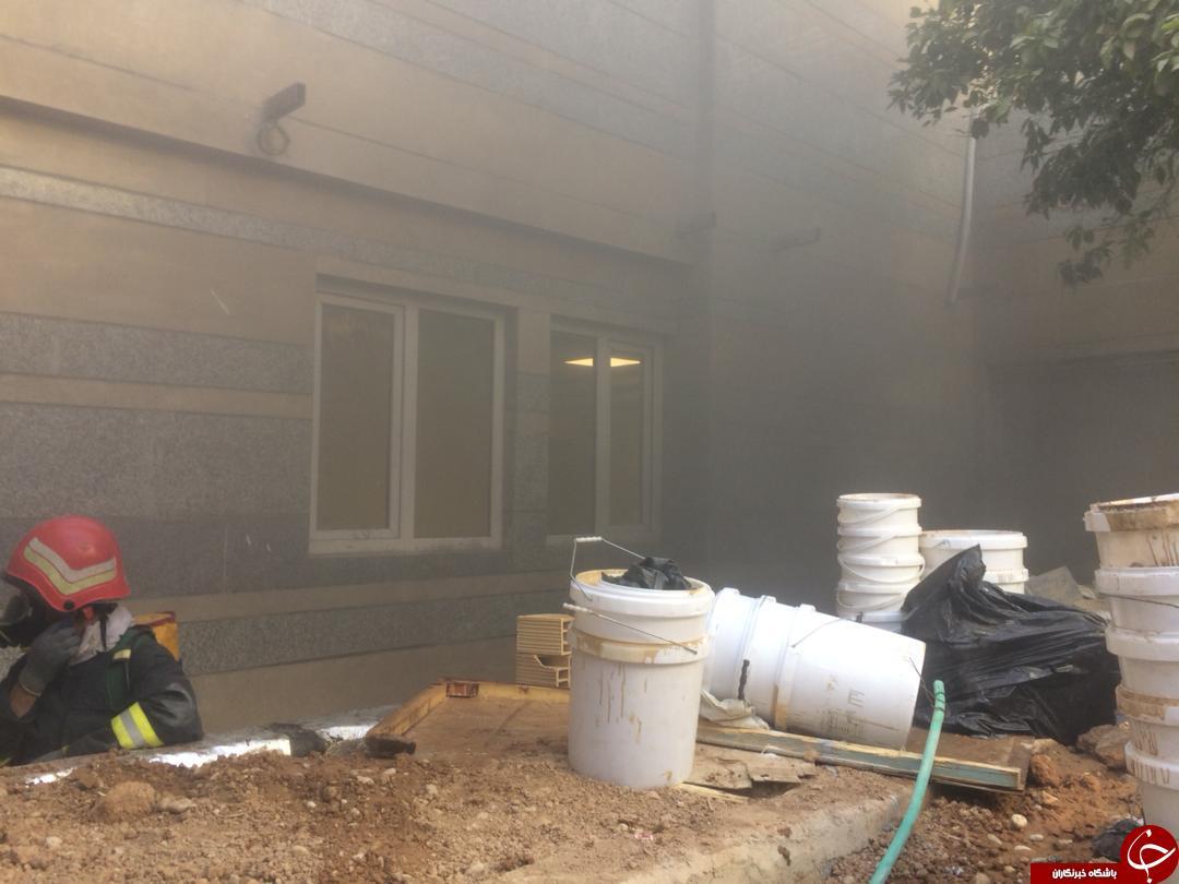 آتش سوزی در بیمارستان شیراز + تصاویر